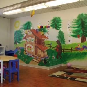 Новый садик для пациентов нашей компании.